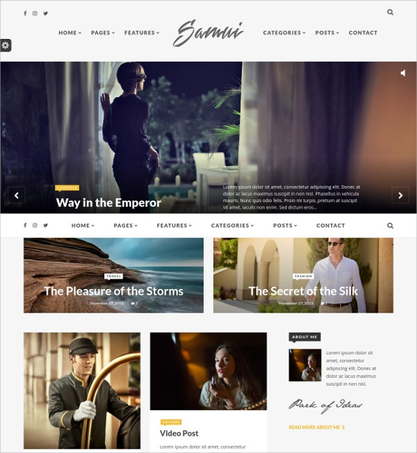 Modern Responsive WordPress Blog Theme $49