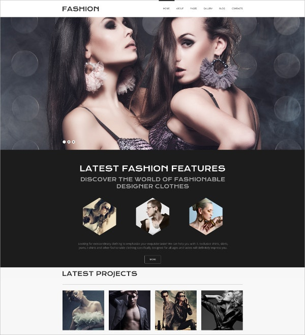 latest online fashion joomla template 75