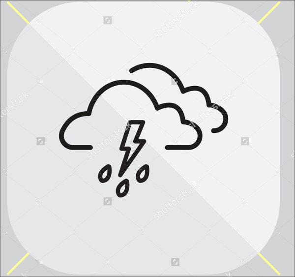 Rainy Weather Icons