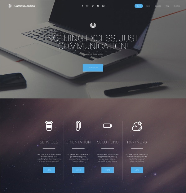 Responsive Communications Responsive Template $199