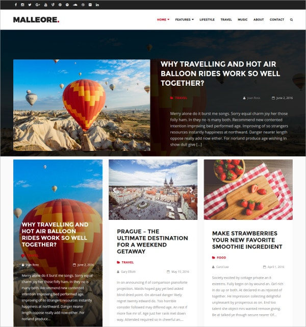 Photography WordPress Blogging Theme $49