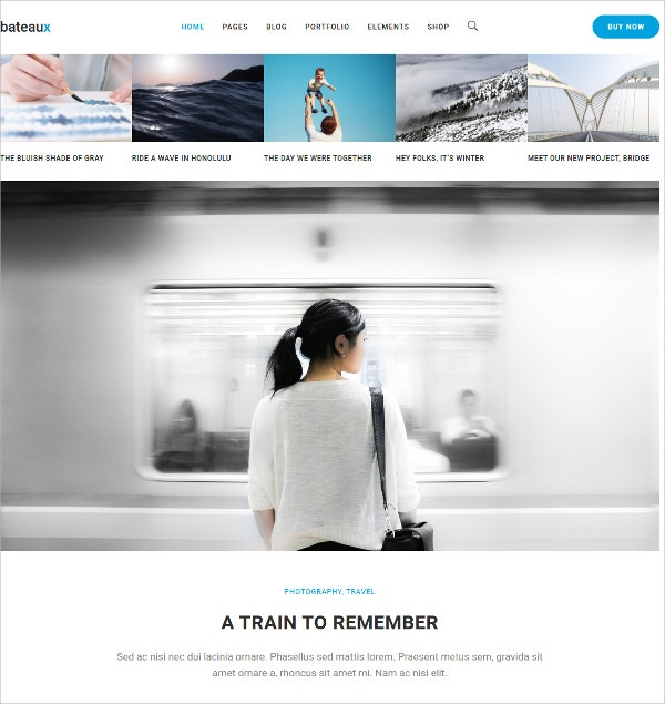 Photography Parallax WordPress Theme $59