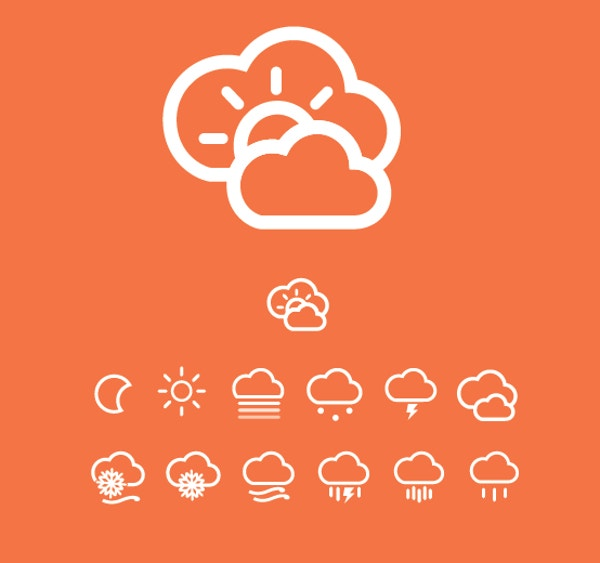 Bright Fun Weather Icon