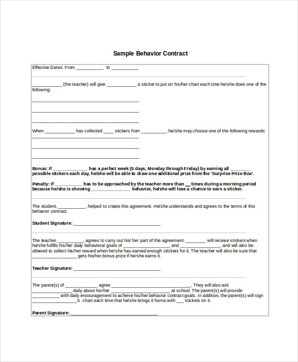 19 Contract Templates Free Sample Example Format Free