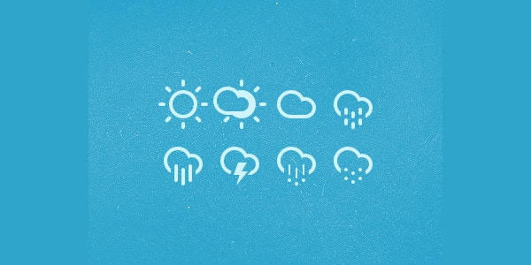 Drizzle Rain Weather Icons