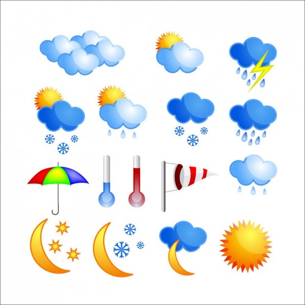 Colourful Weather Icons