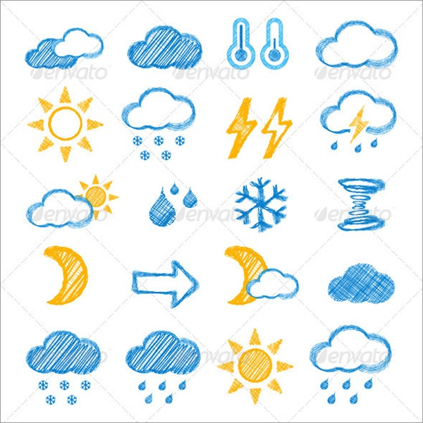 Doodle Style Weather Icon