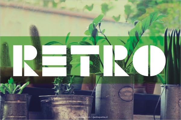 tangram retro font