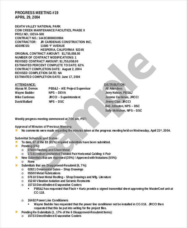 corporate minutes template california