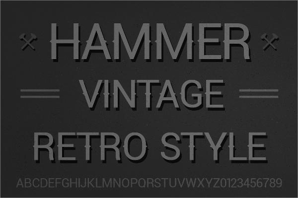 Hammer Retro Font
