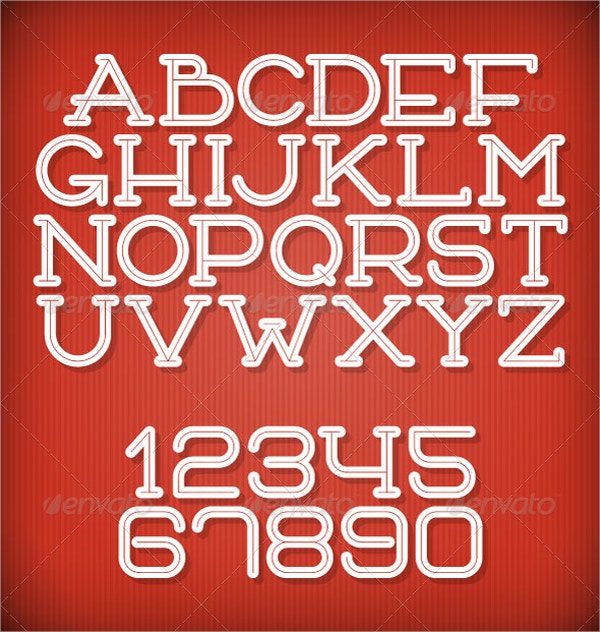 Inline Retro Vector Font