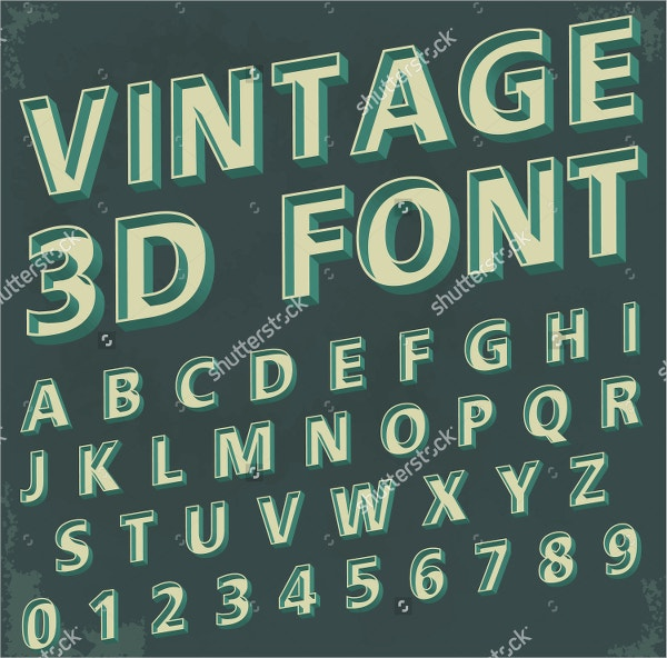 3D Retro Type Font
