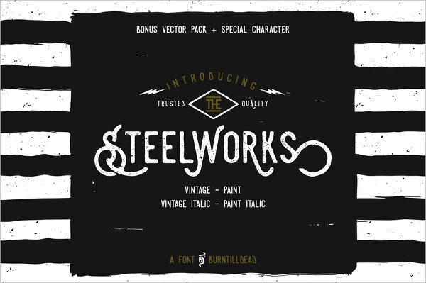 steelworks retro font