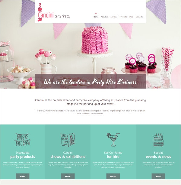 Sweet Shop Responsive HTML5 Template $199
