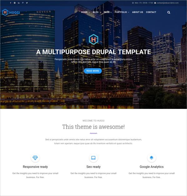 Portfolio Responsive Business Drupal HTML5 Theme $48