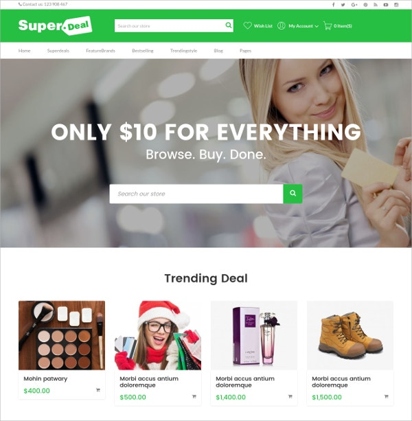Fancy eCommerce Shopify Theme $56