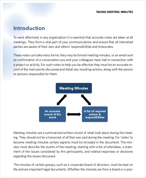 Taking Minutes Template – 10+ Free Word, PDF Documents Download ...