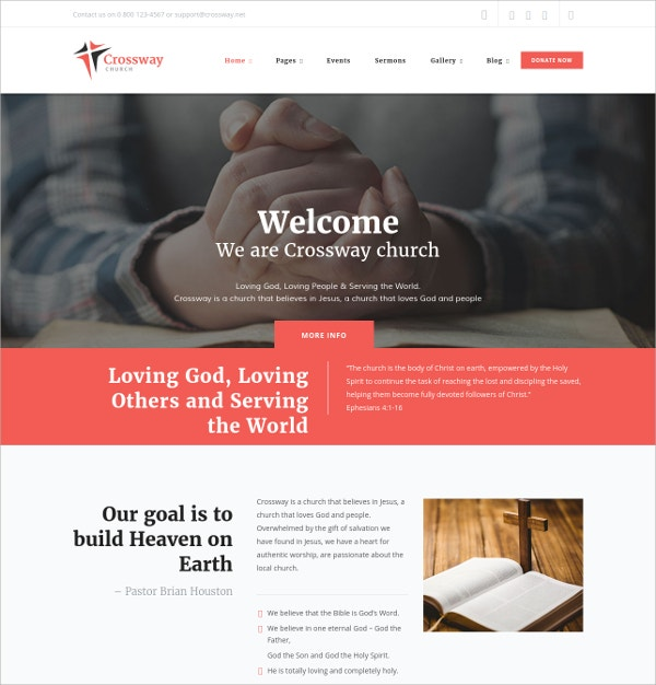 Church & Religion Website Theme $53