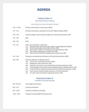 Business Partners Meeting Agenda Sample