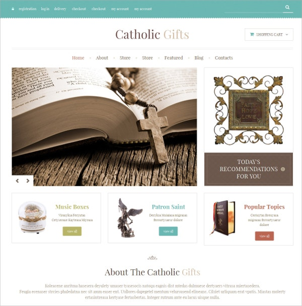 Religious Responsive Church WooCommerce Website Theme $114