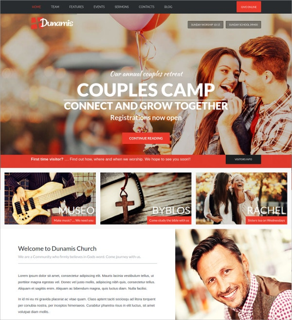 Modern Church Donations Website Theme $59