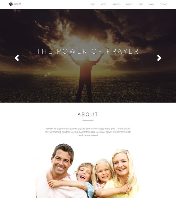 Church Portfolio WordPress Website Theme $49