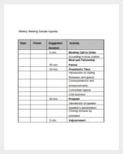 Sample Weekly Meeting Agenda
