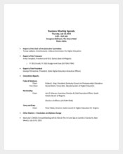 Business Sales Meeting Agenda Sample Template