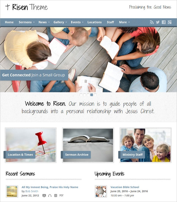 Church Charity WordPress Website Theme $49