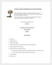 Agenda Board Exective Committee Meeting Sample