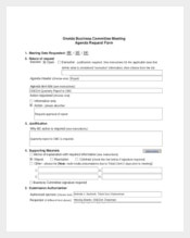 Business Committee Meeting Agenda Sample Template