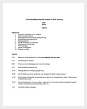 Committee Meeting Agenda Template for Staff Coaching Sample