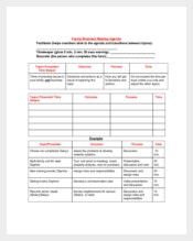 Business Family Meeting Agenda Sample Template
