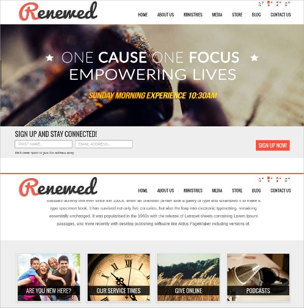 Theme For Best Church Website Theme$65