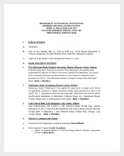 Example Project Meeting Agenda Template for Financial Institution