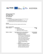 Example Project Status Meeting Agenda