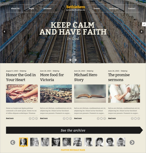 Church & Campaign WordPress Website Theme $59