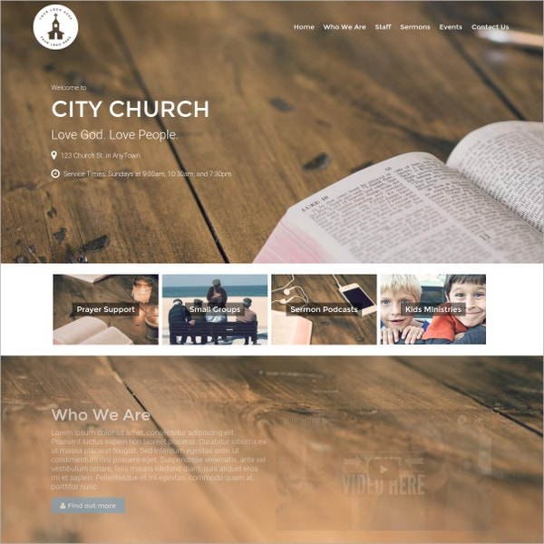 Church Pastoral Website Theme $79