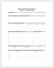 Effective Meeting Agenda Template for Family Sample