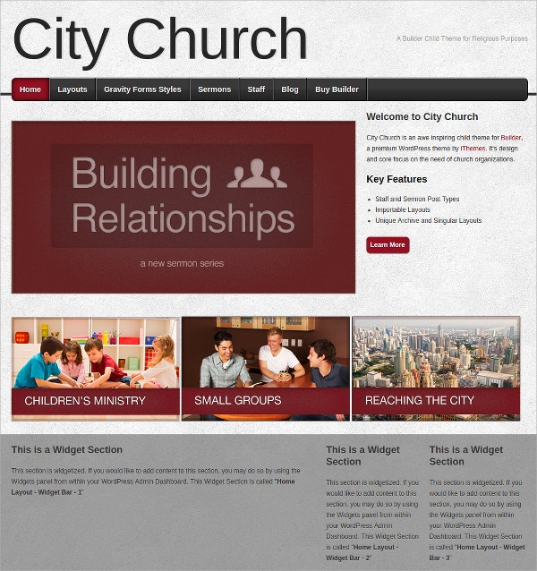 City Church child Website Theme