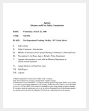 Example Fire Safety Meeting Agenda Template