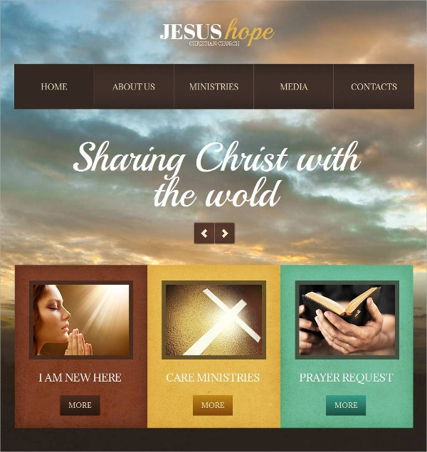 Christian Church Moto CMS HTML Website Template $139