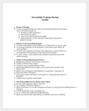 Example Education or Training Meeting Agenda