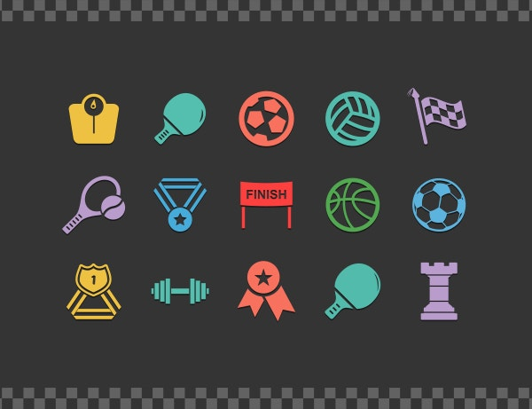 100 sport fitness icons free