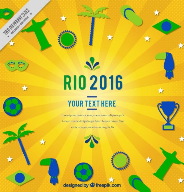 Rio 2016 background with sporty