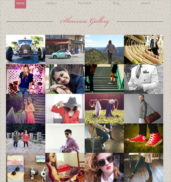 free photo gallery website theme