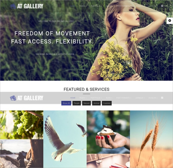 free joomla photography website theme
