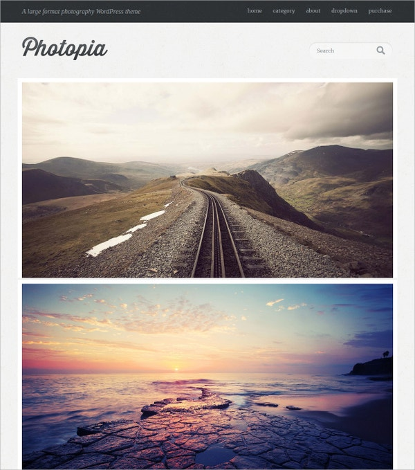 free adventure photography website template