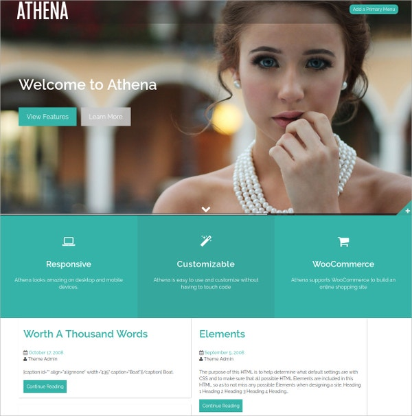 Free Modern Photography Website Template