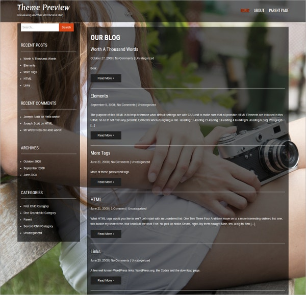 Free Creative Photography Website Themes Templates Free - Free photography website templates